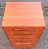 Tall Narrow Teak Chest of Six Drawers by G-Plan